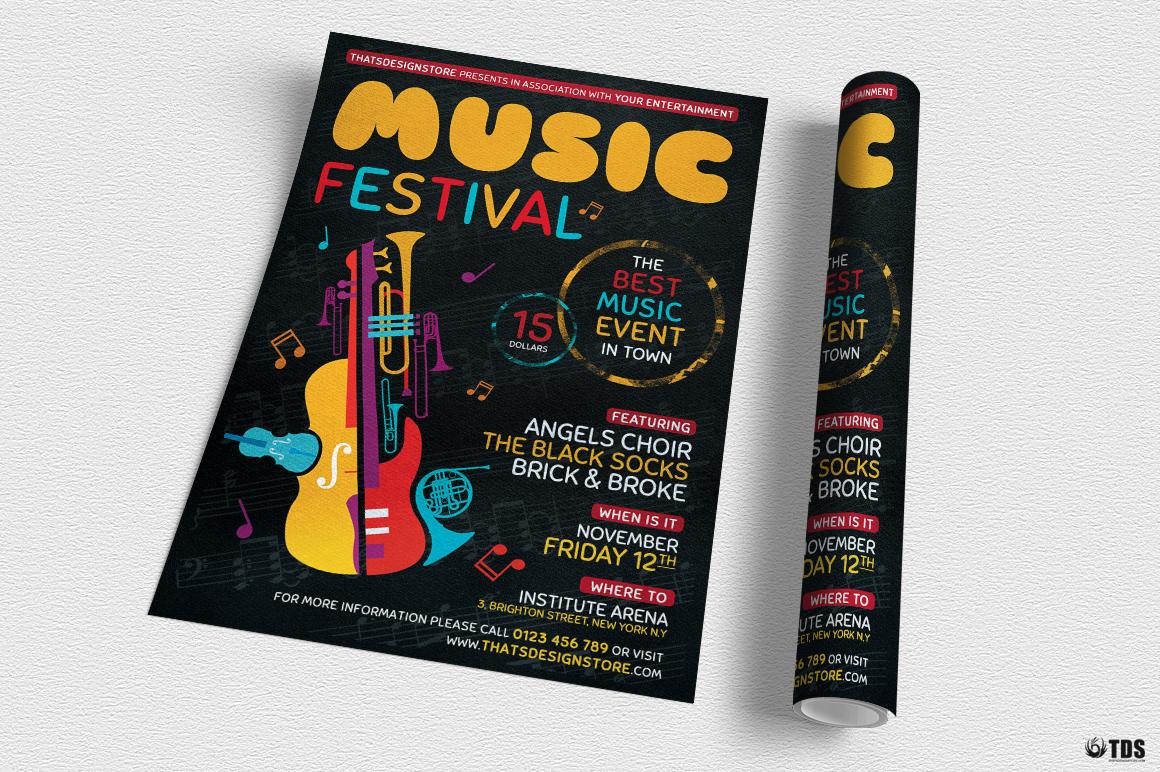 Music Festival Flyer Template V10 example image 3