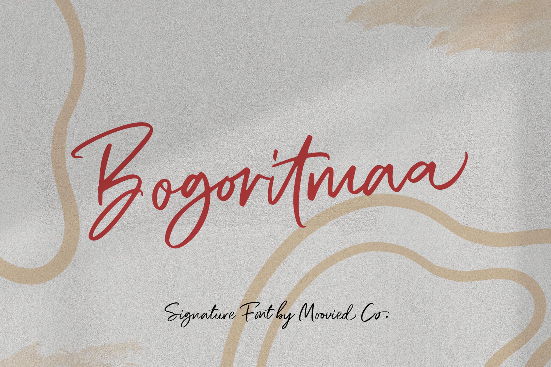 Bogoritmaa Signature example image 1