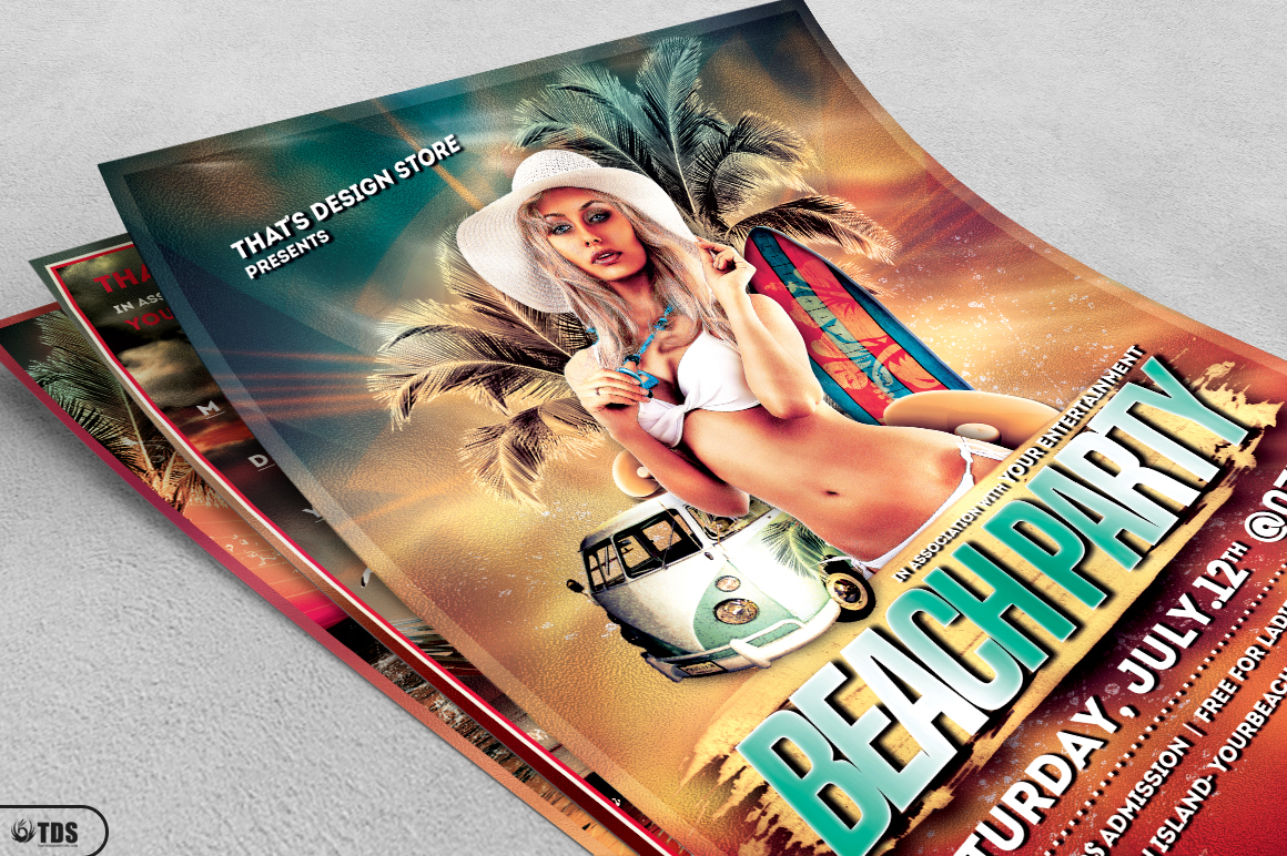 Beach Party Flyer Bundle V1 example image 4