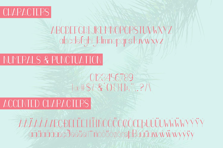 Miami Vibes Art Deco Sans Font example image 6
