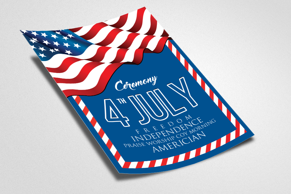 American Independence Day Flyer  example image 2