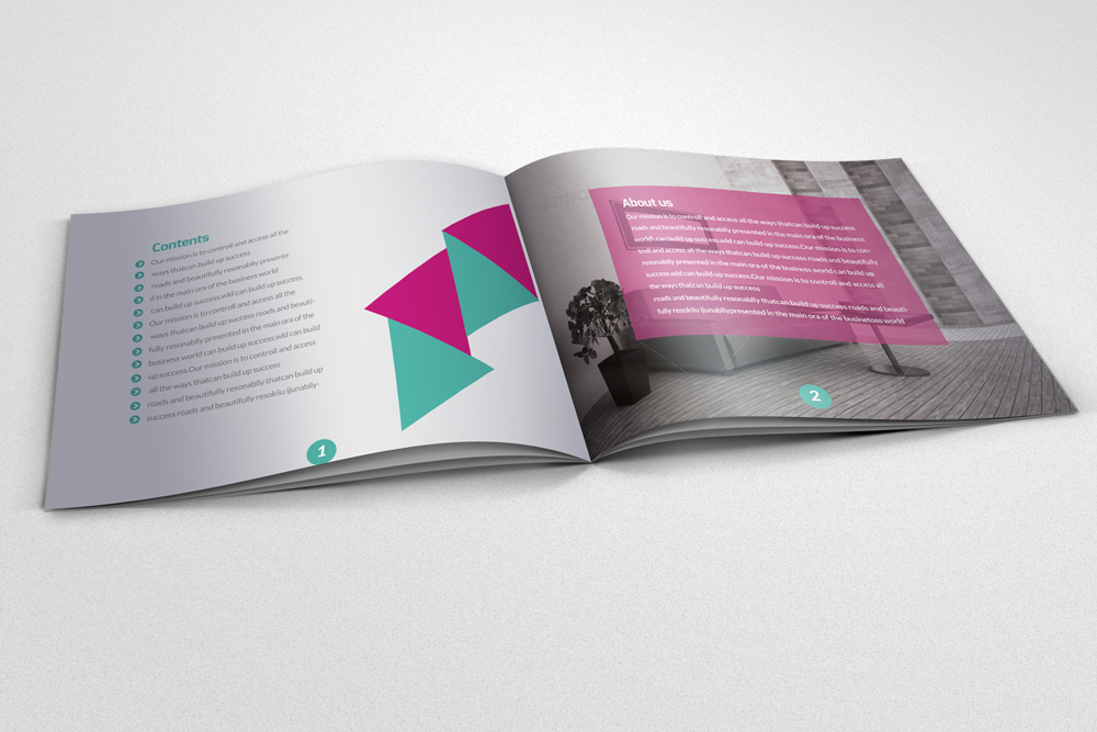 20 Pages Multi Use Minimal Square Brochure example image 5