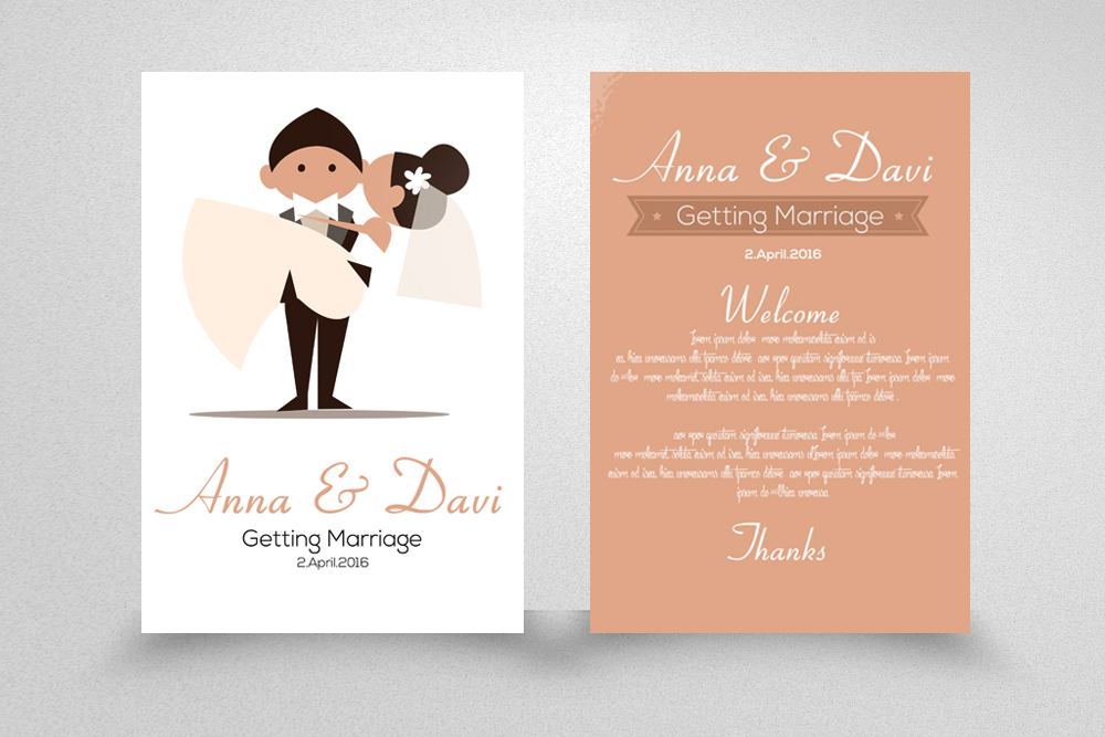 Save the Date Double sided Invitation Cards example image 1