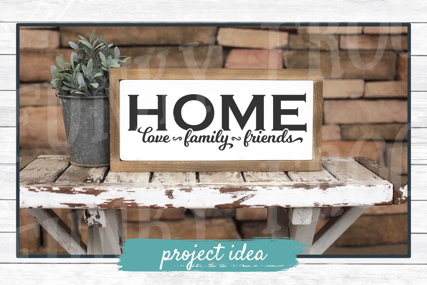 Home Love, Family, Friends - SVG Cut File for Crafters example image 2