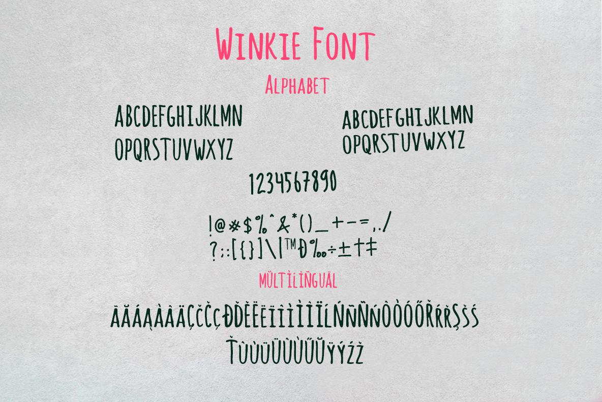 Winkie Wonka Font Duo example image 9