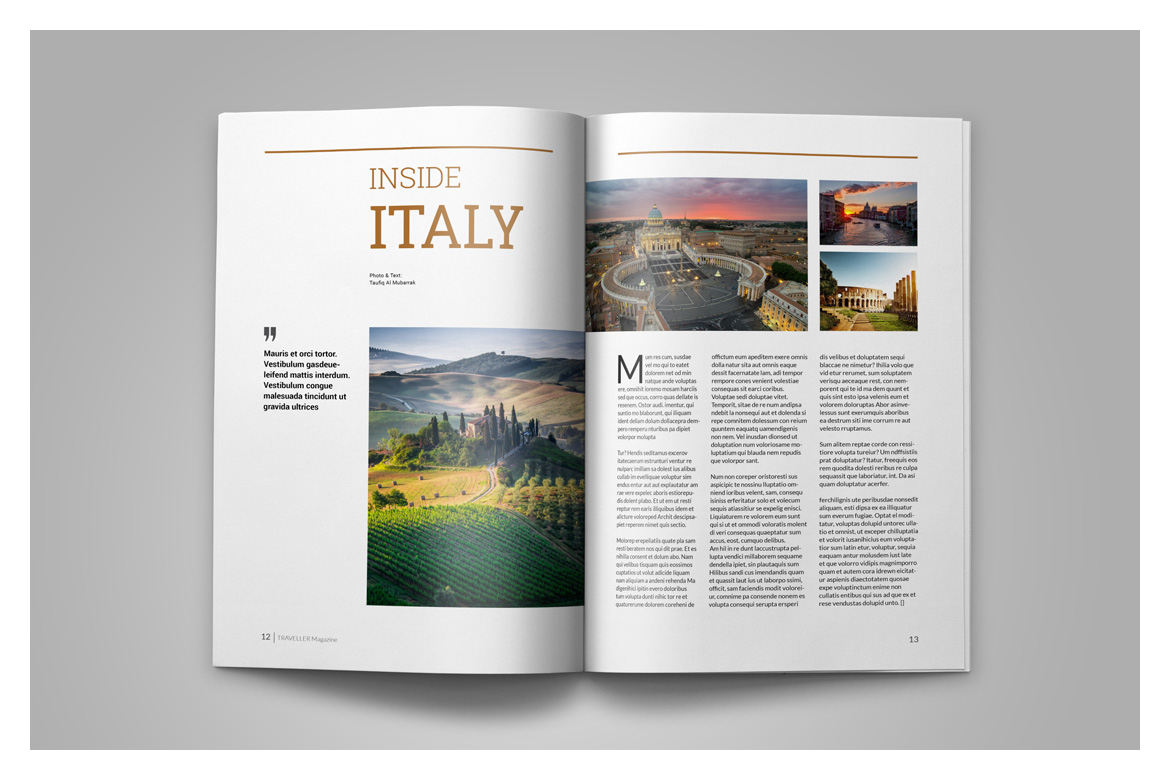 Indesign Magazine Template example image 9
