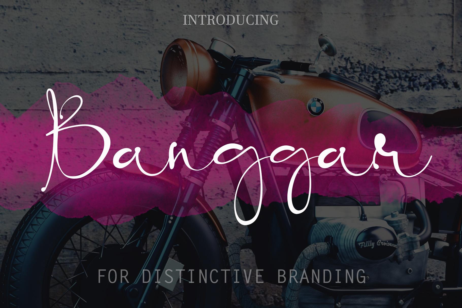 Banggar Signature Font example image 2