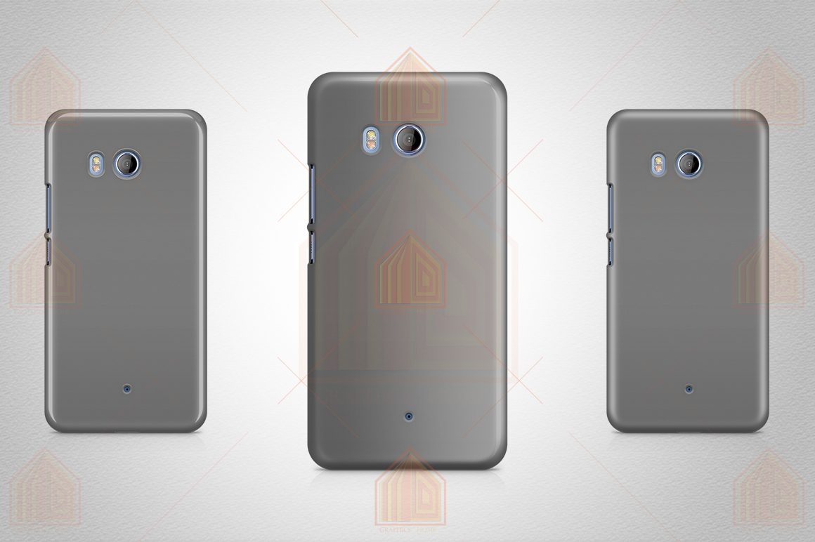 HTC U11 3dCase Design Mockup Back View example image 5