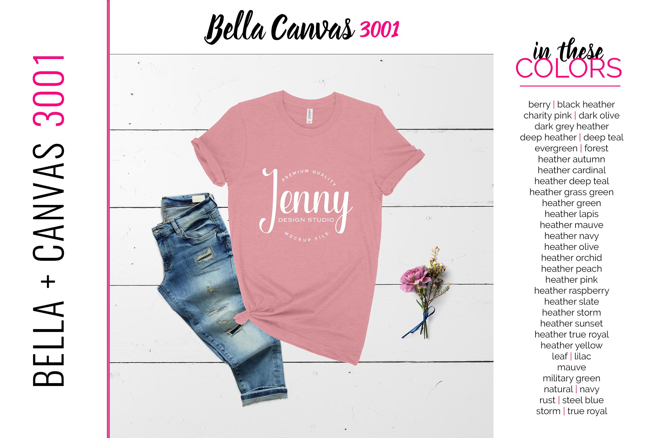 Bella Canvas 3001 Mockup Bundle, Knotted Tshirt Mockup example image 2