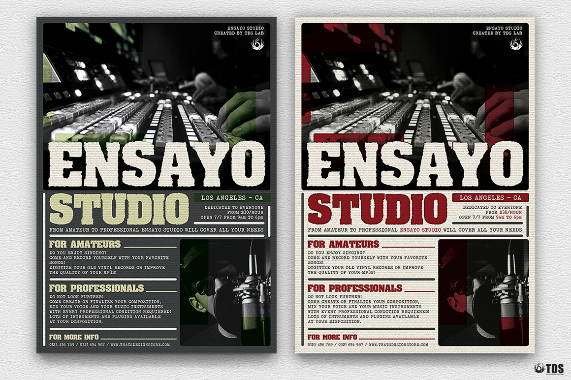 Music Studio Flyer Template example image 2