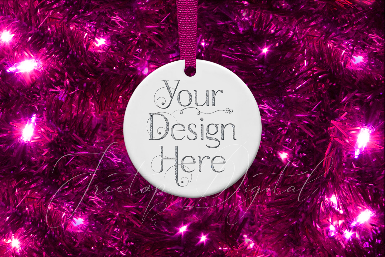 Round Christmas Ornament Mockup, Bauble Mock- Up, JPG example image 5
