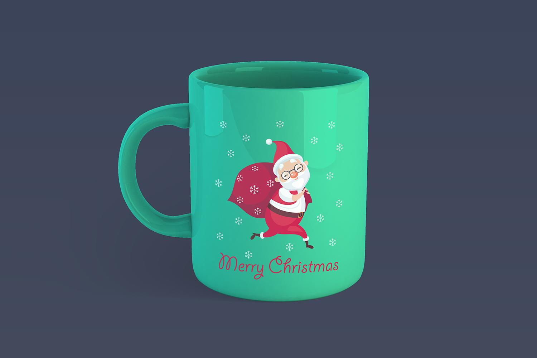 Funny Santa. Christmas clip arts and seamless patterns. example image 2