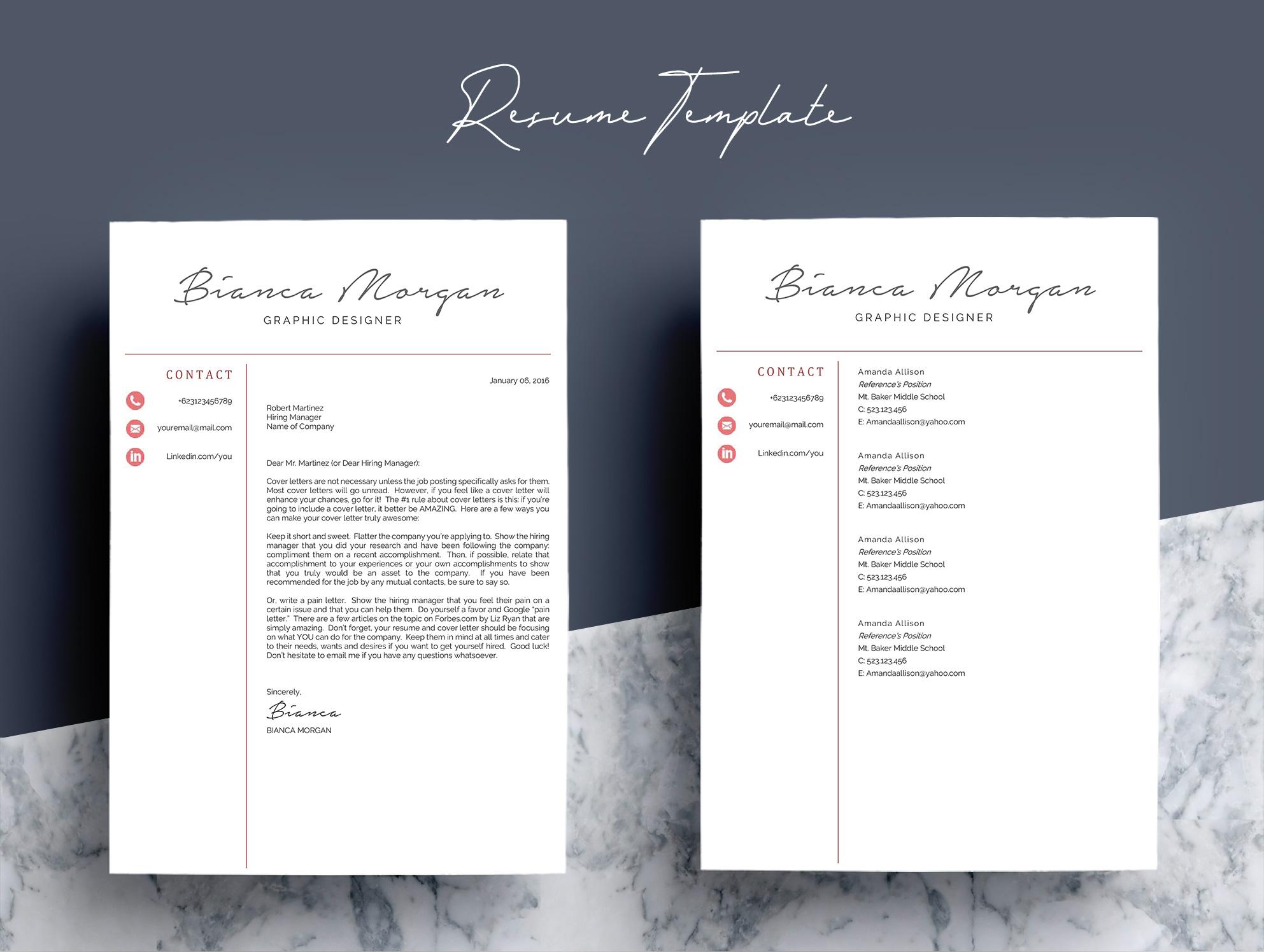 Creative Word Resume Template CV example image 7