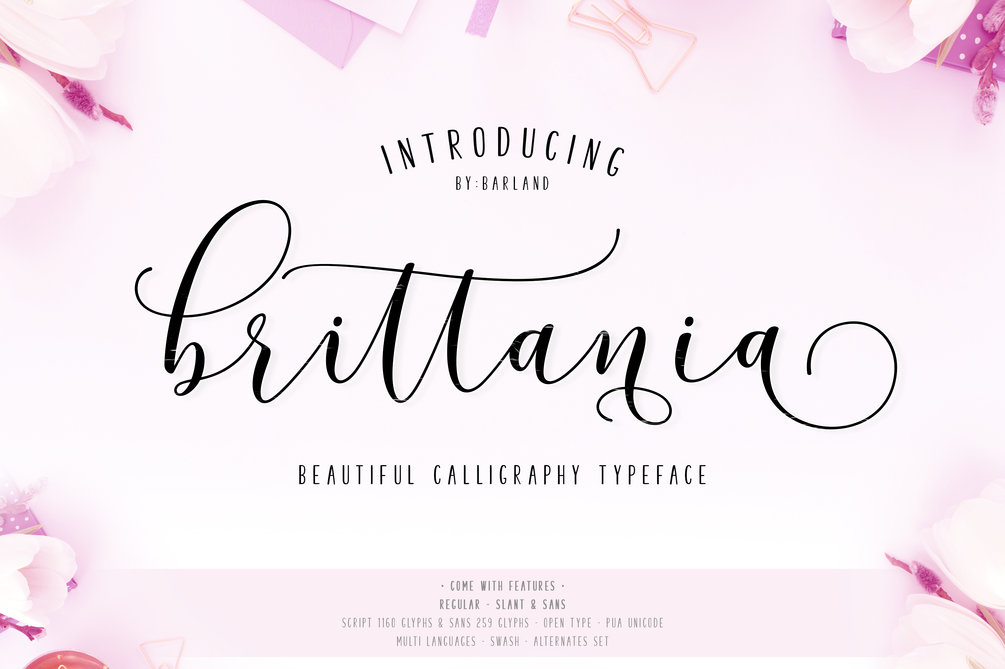 New! Brittania | 5 Font | 35% Off example image 1