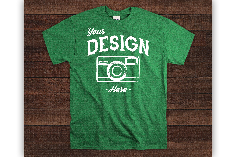 Wooden Background 70 Color Gildan Tshirt Mockup Bundle example image 4
