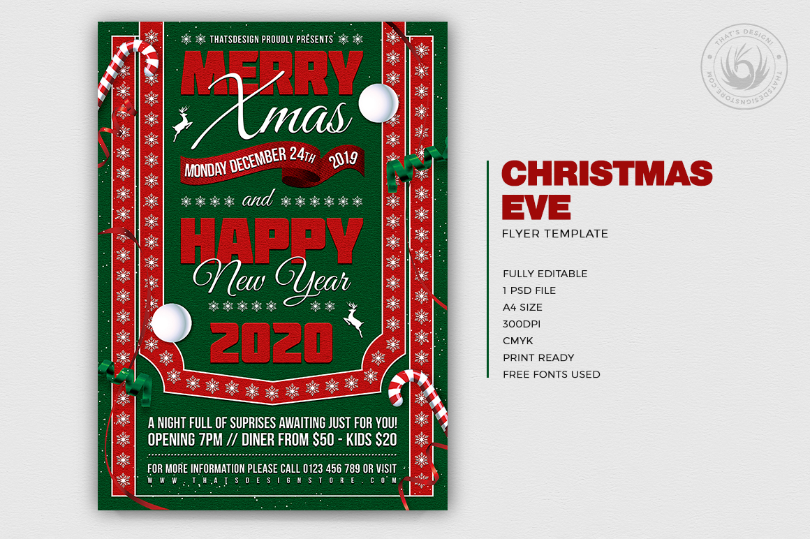 Christmas Eve Flyer Template V10 example image 2