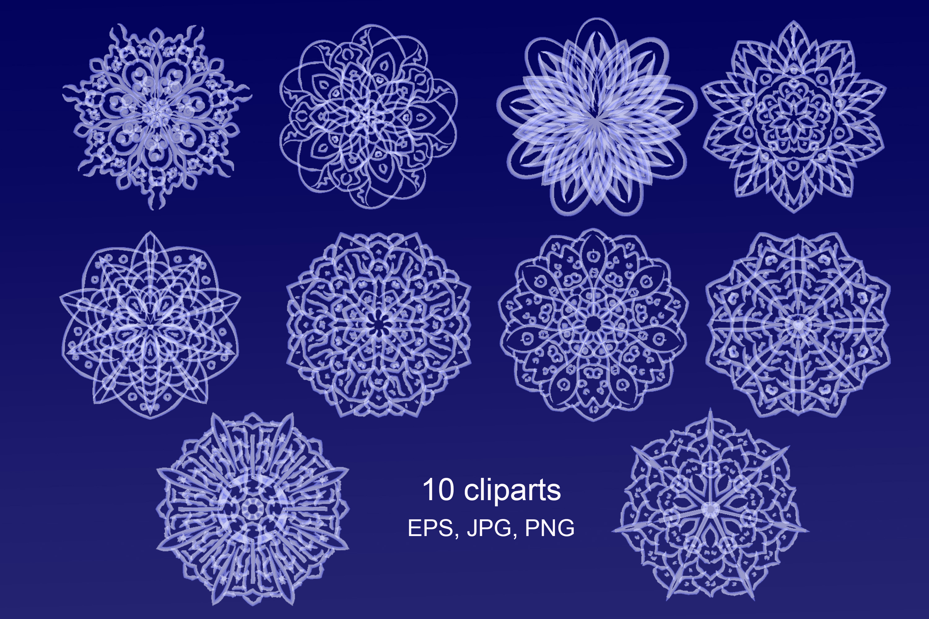 Snowflakes. Vector illustration example image 2