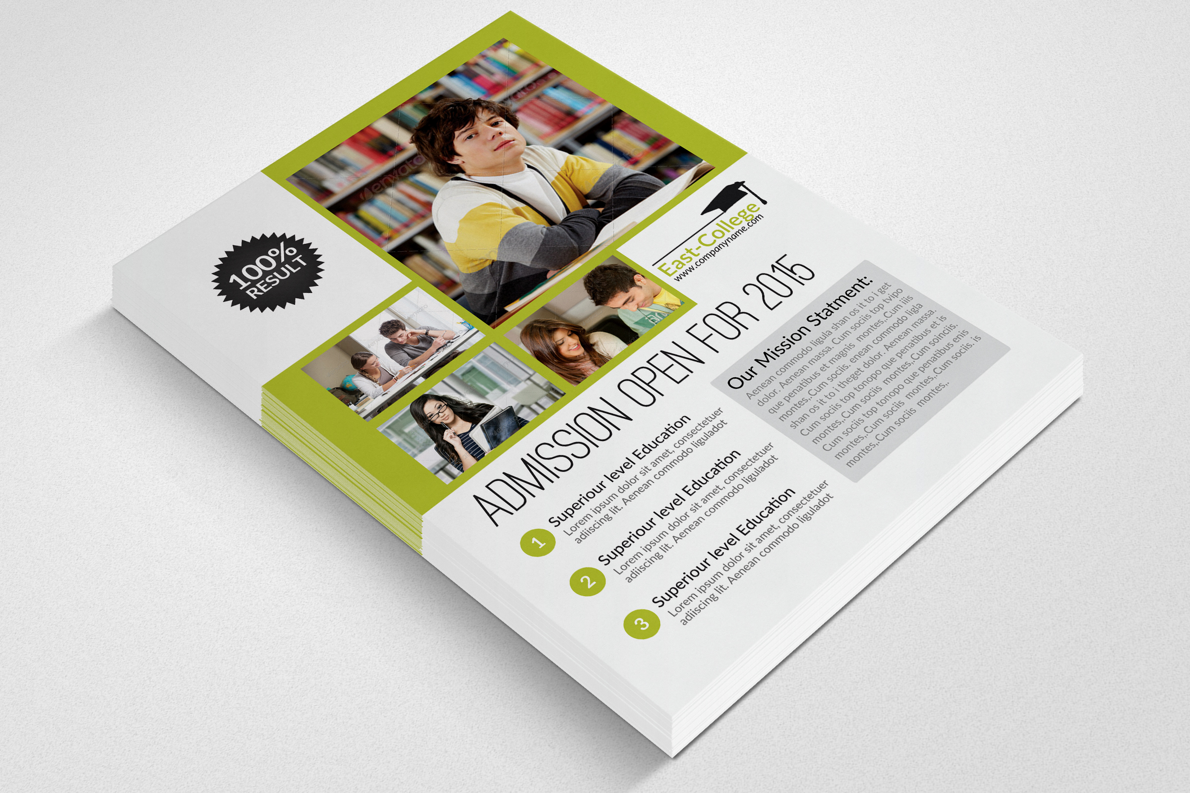 Senoir Education Flyer Template example image 3