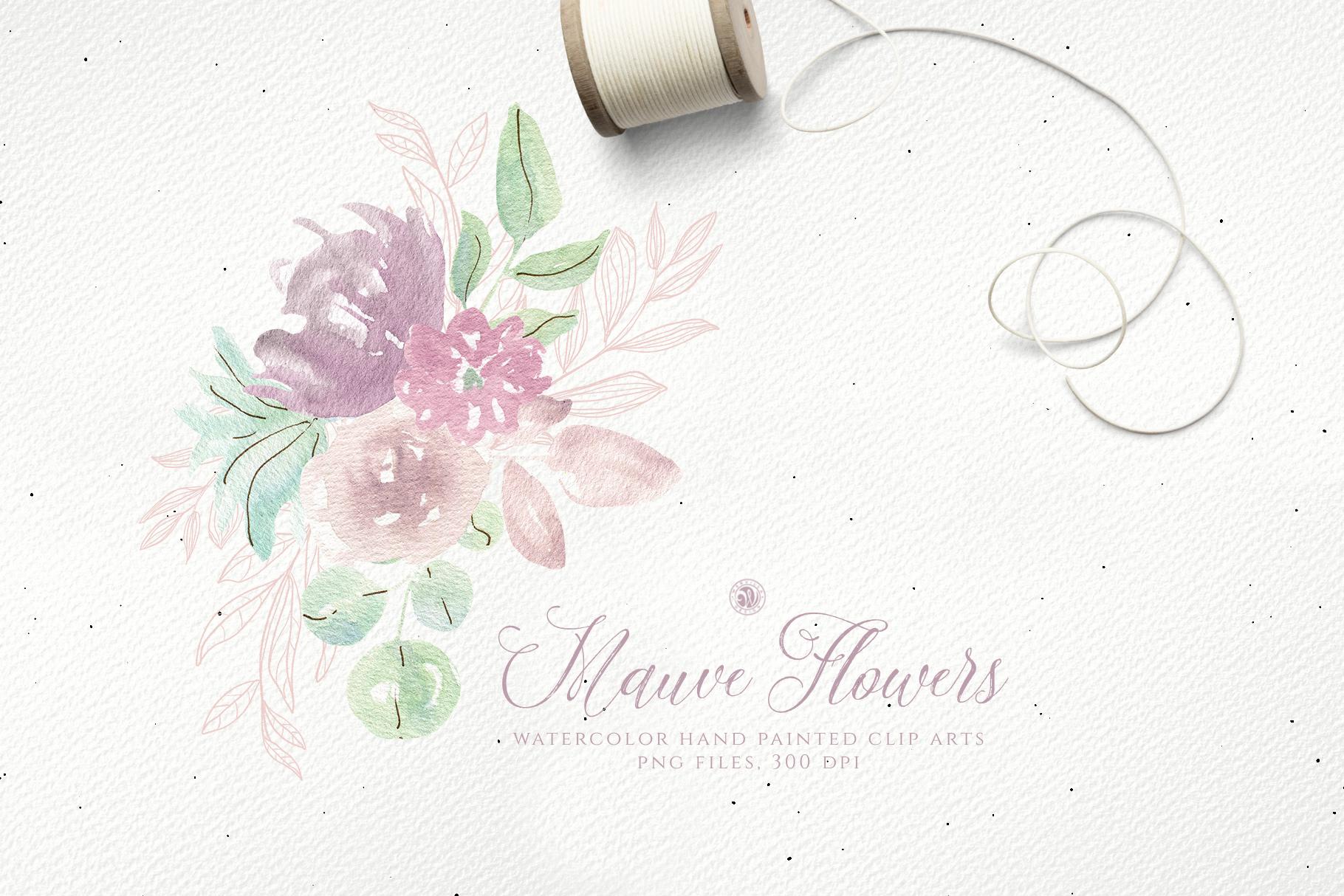 Mauve Flowers example image 2