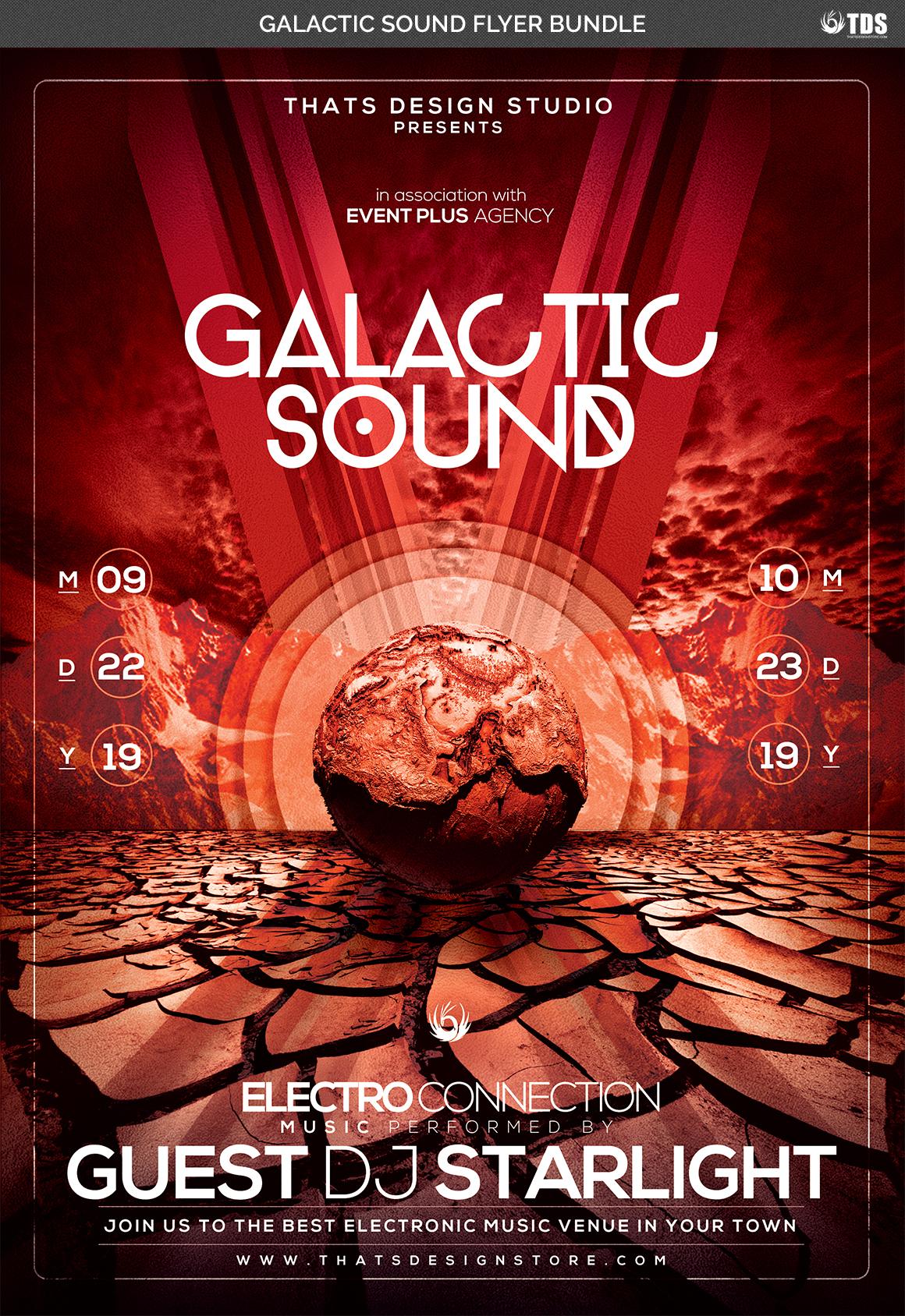 Galactic Sound Flyer Bundle example image 10