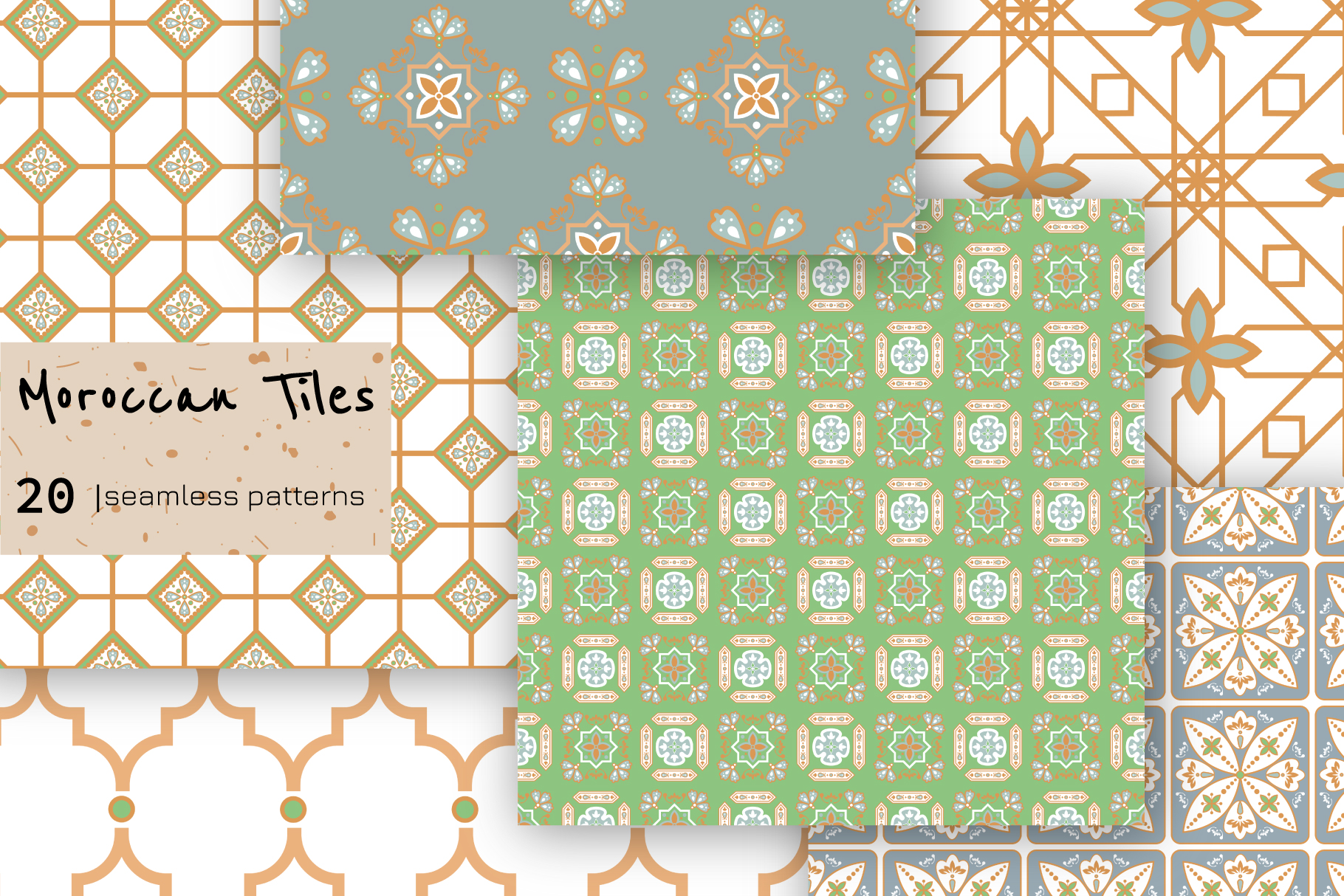 Moroccan Tiles - 20 patterns example image 4