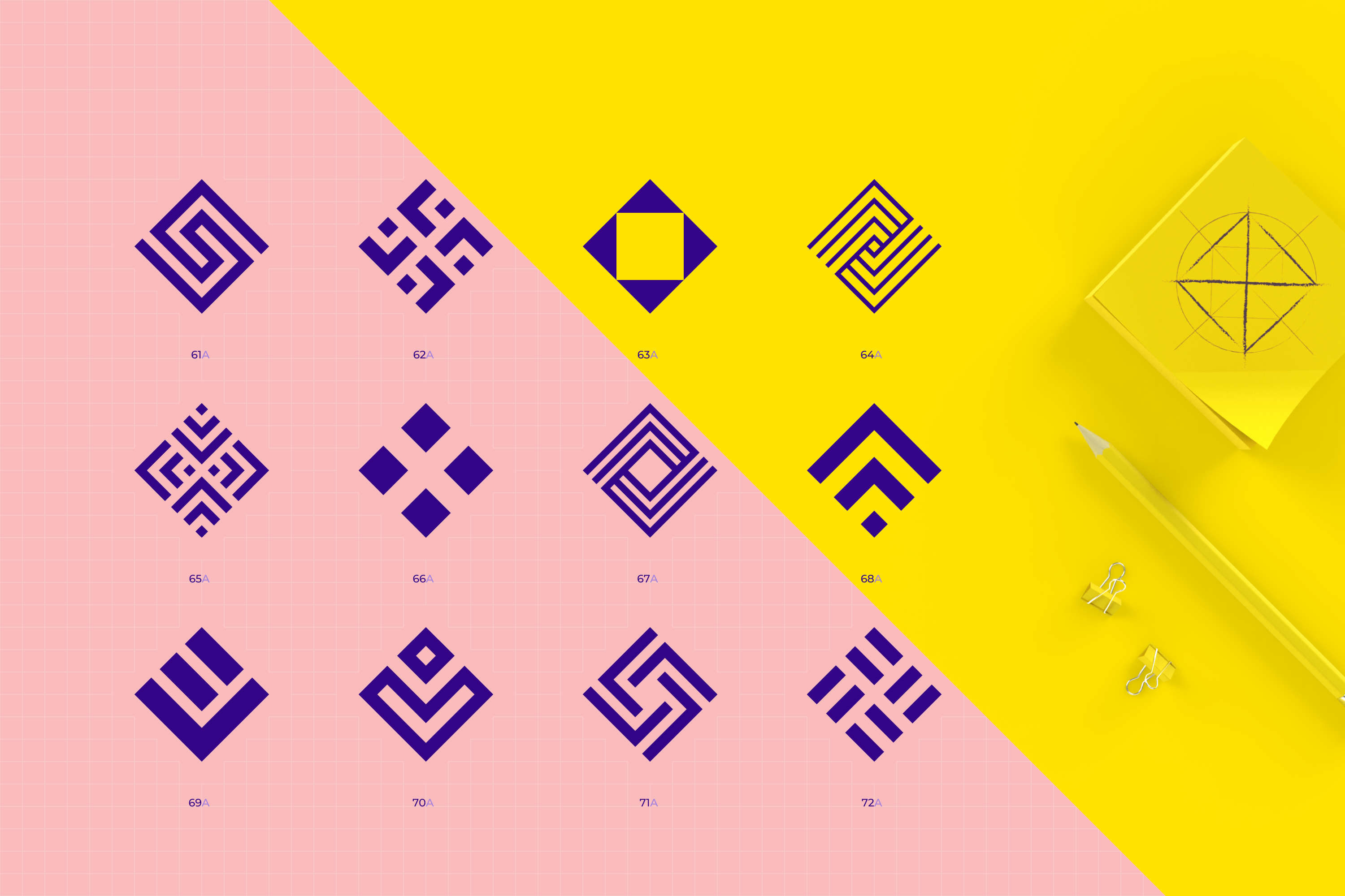 96 Geometric shapes & logo marks collection VOL.1 example image 15