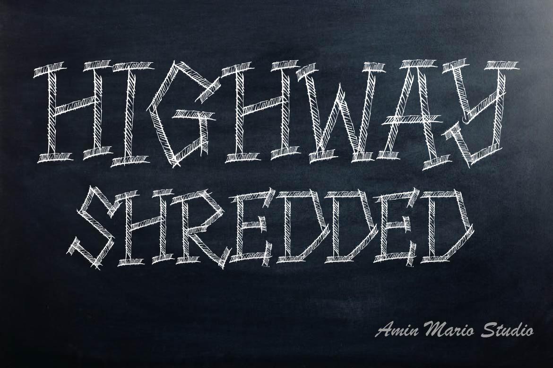 HIGHWAY SHREDDED - ALLCAPS example image 1