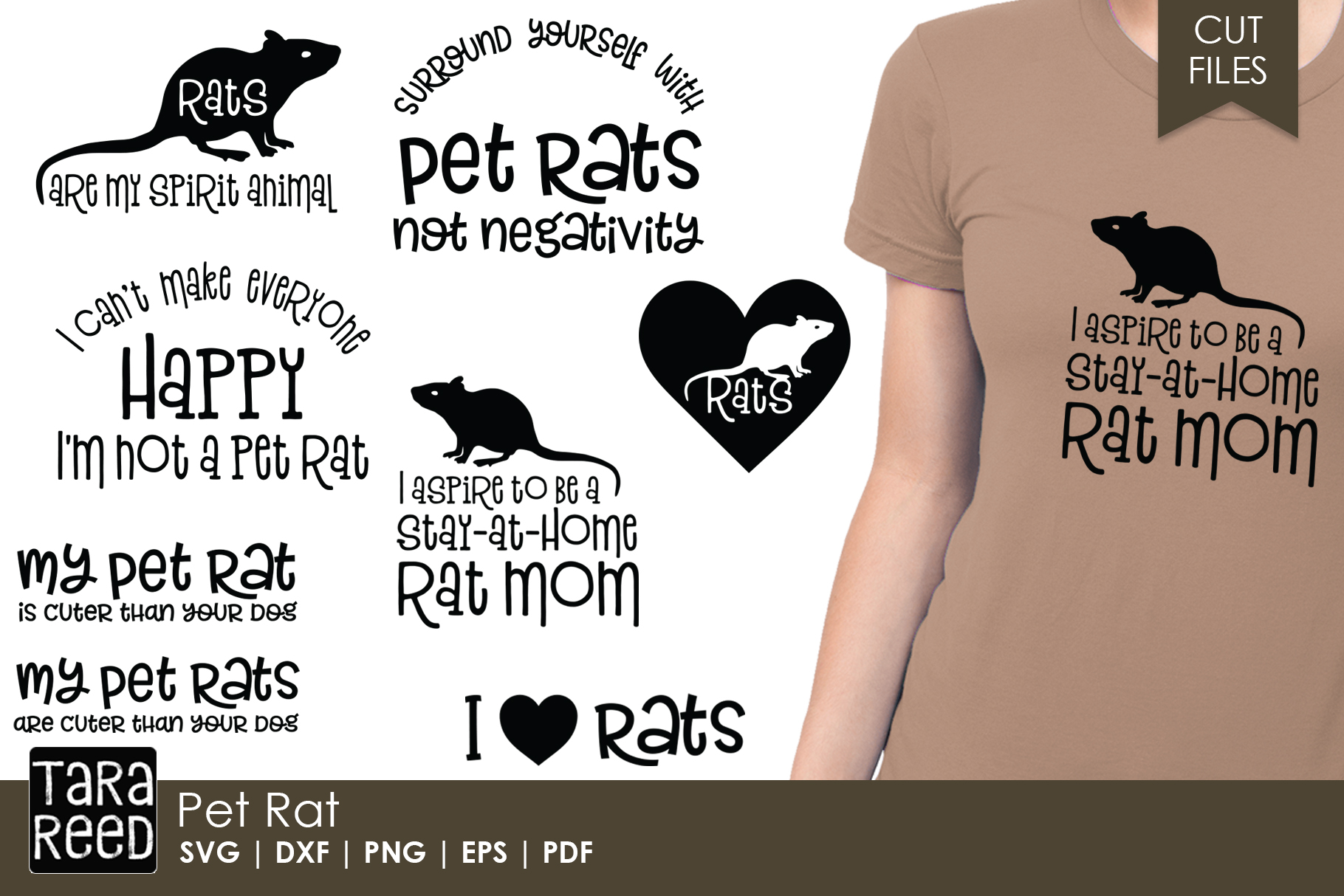Pet Rat - SVG and Cut Files for Crafters example image 1