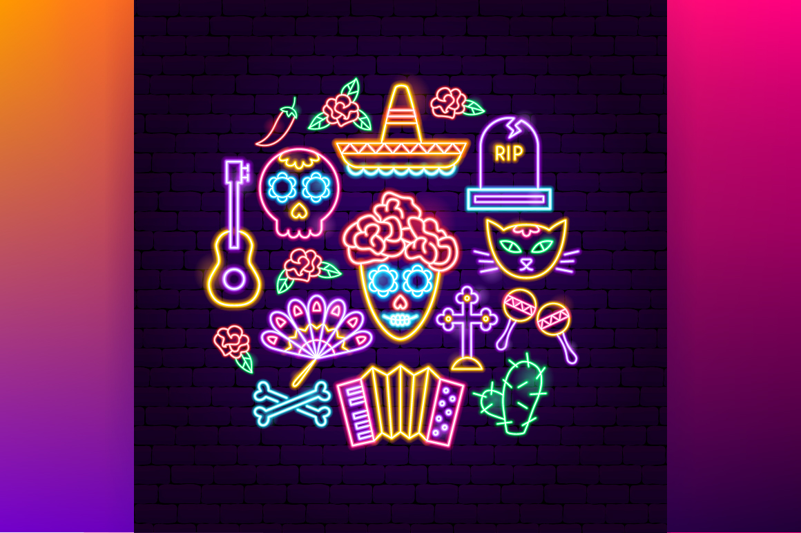 Day of the Dead Neon example image 5