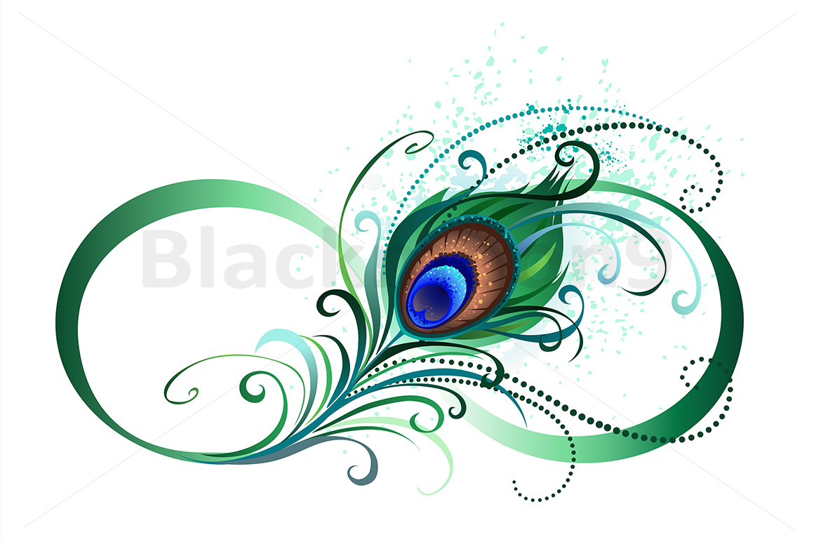 1ccd7adb473de Infinity Symbol with Peacock Feather ( Tattoo ) example image 1