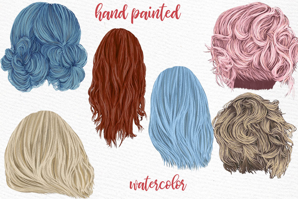 Hairstyles clipart, Girls Hairstyles,Custom Girls Hairstyle example image 2