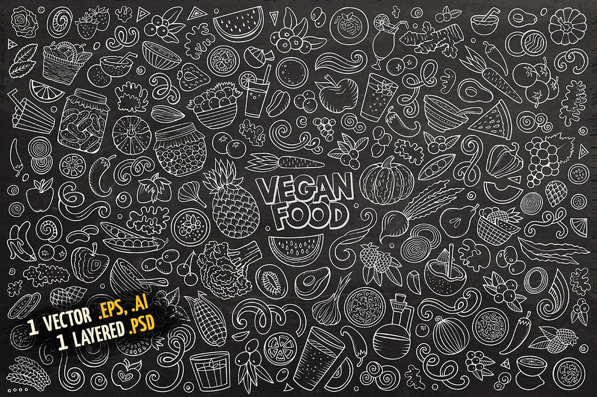 Vegan Food Objects & Elements Set example image 4