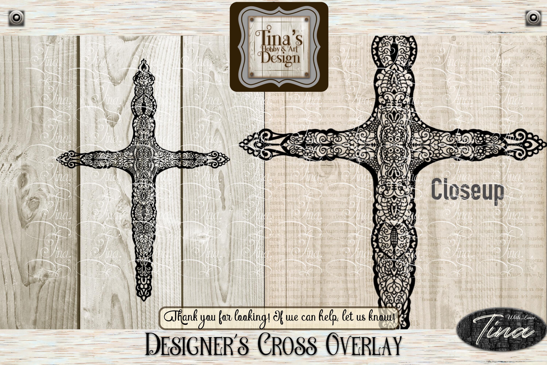 Designer Overlay Cross Doily Zentangle Christian 101418CROSS example image 1