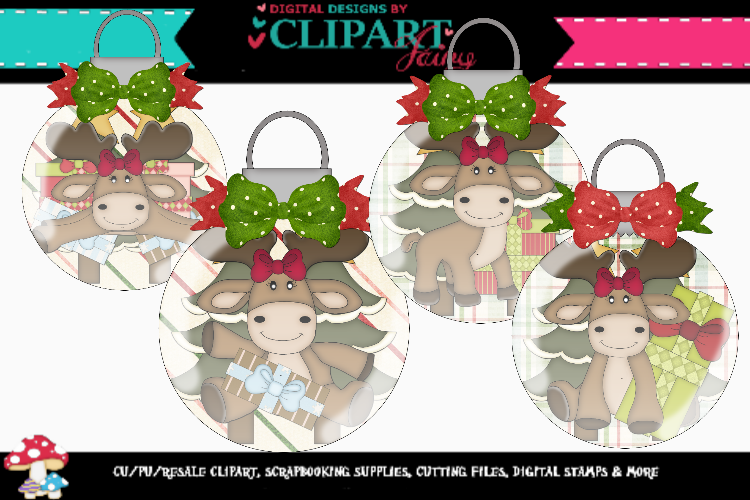 Moose Ornaments example image 1