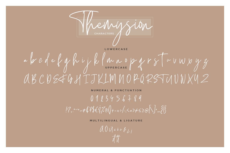 Themysion Signature Handwriting example image 8