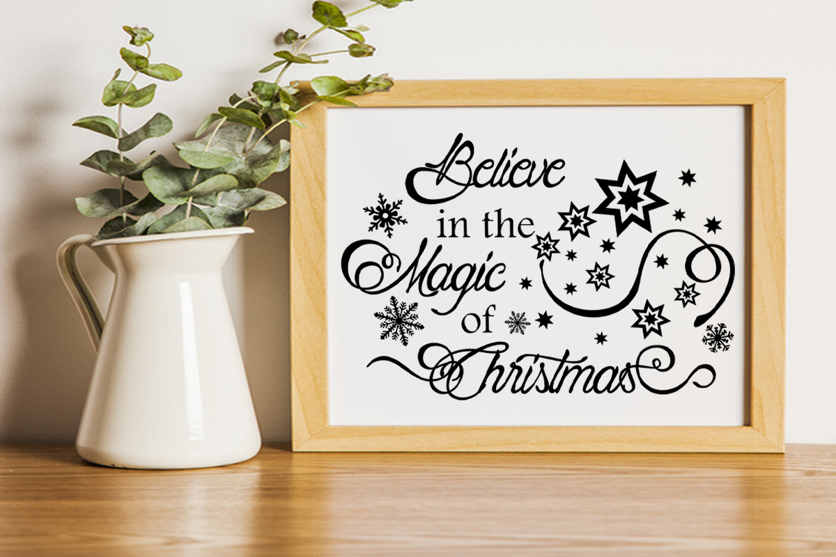 Christmas svg Believe in the magic of Christmas Winter svg example image 10