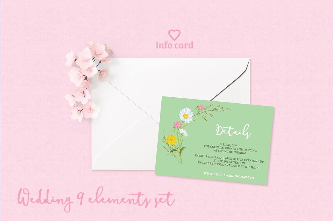 Summer Wedding Invitation Set example image 3