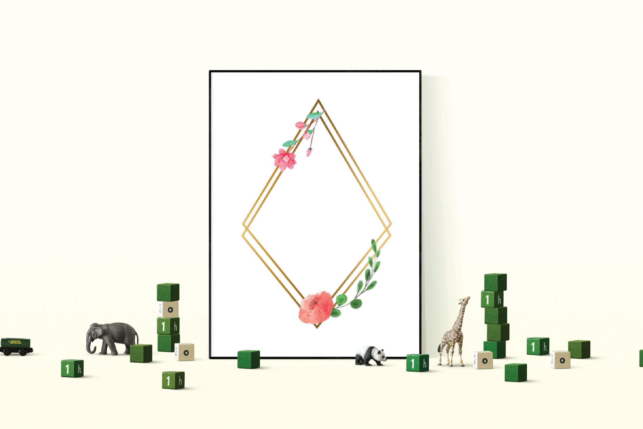 Golden Floral Frames Clip Art. Wedding geometric borders png example image 6
