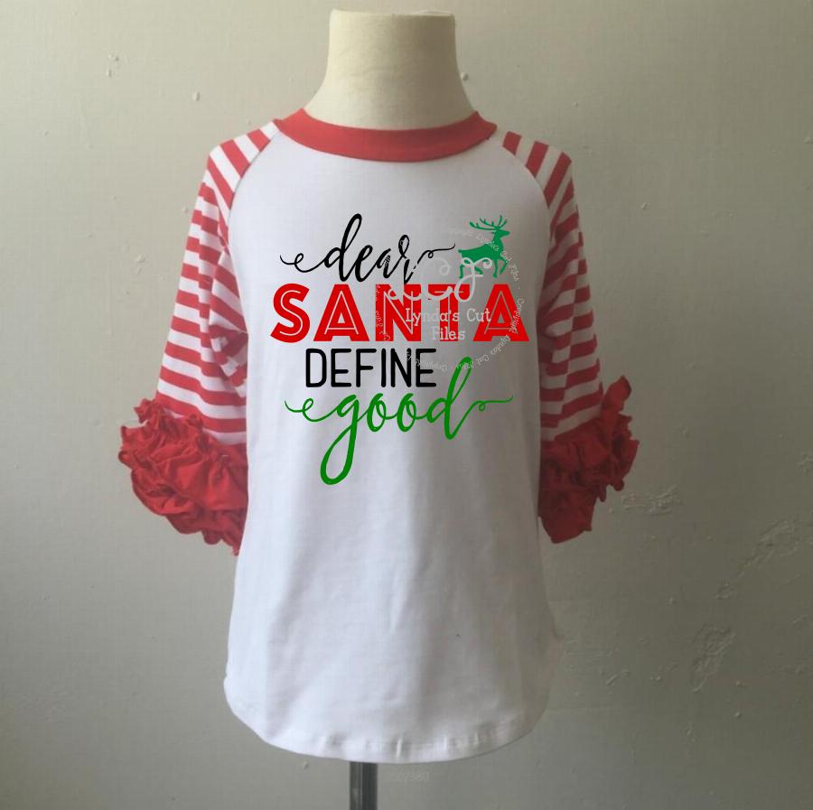 Dear Santa Define Good//Christmas//SVG//EPS//DXF example image 2