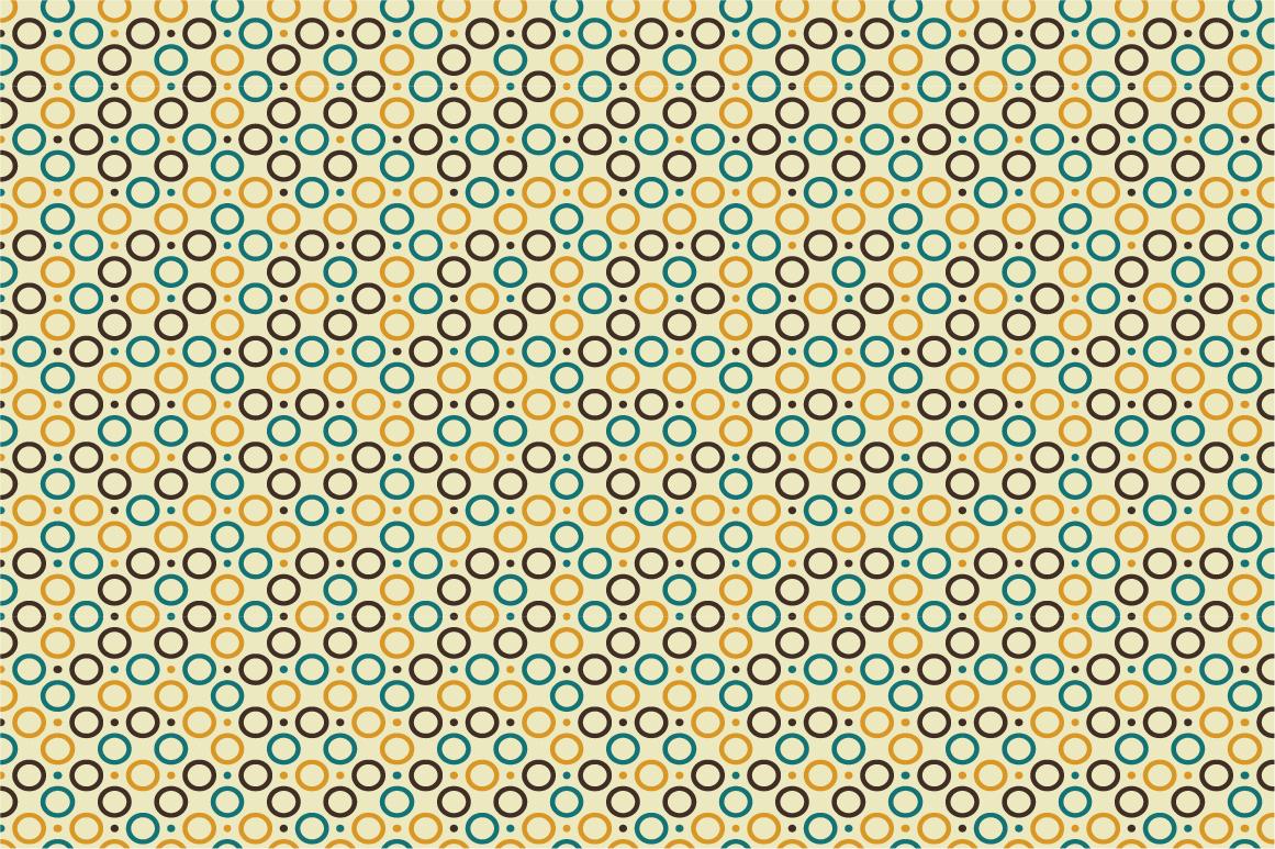 Retro patterns - seamless. example image 4
