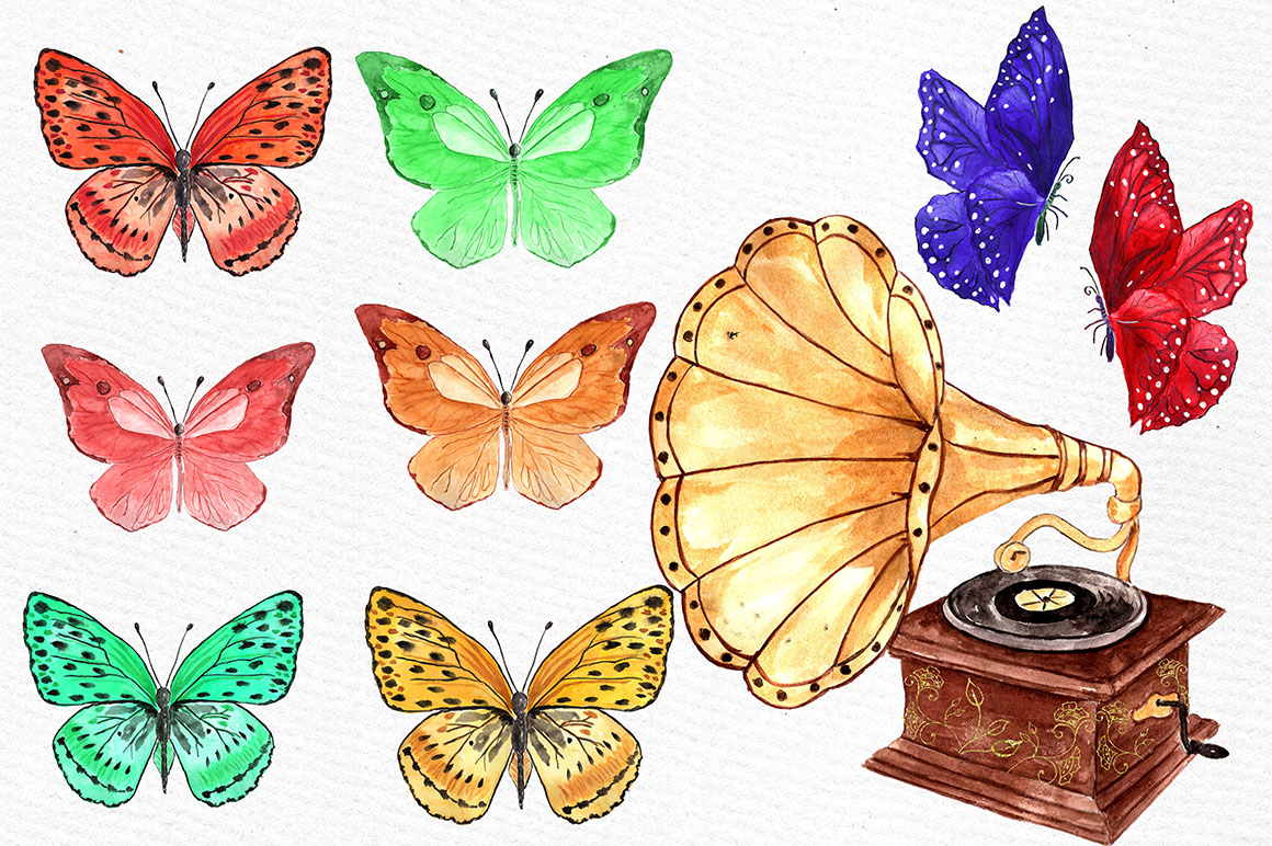 Watercolor floral elements example image 4