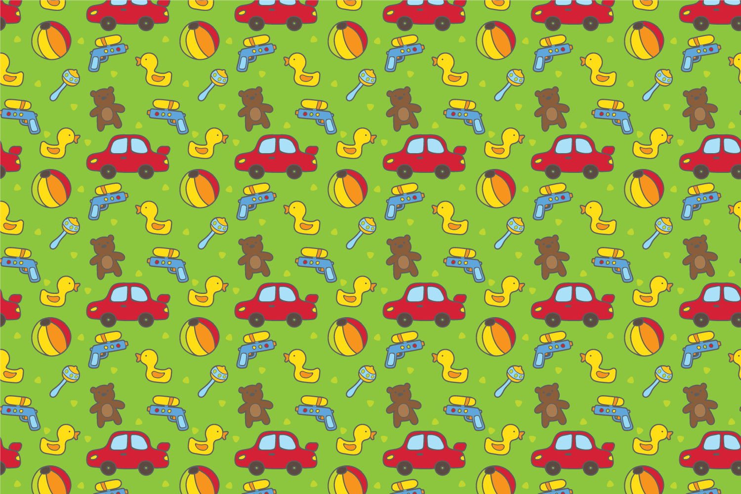 Cute baby toys seamless pattern example image 6