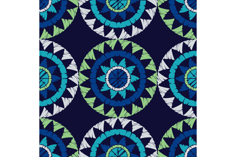 Polka dot ornament. Set of 10 seamless patterns. example image 2