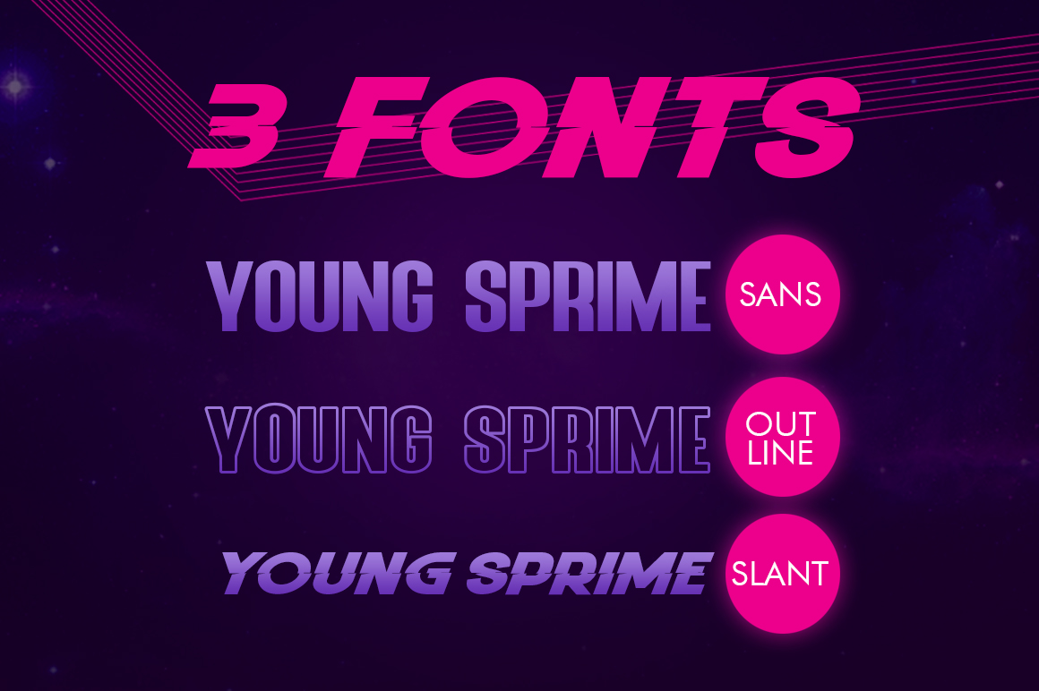 Young Sprime 3 Font example image 6