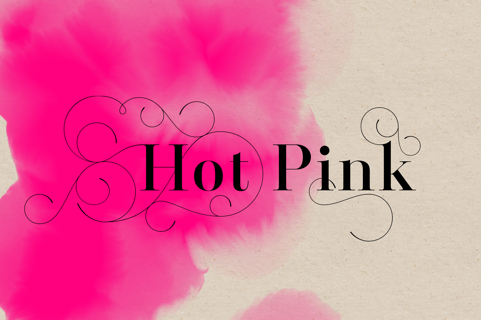 Hot Pink - 45 Watercolor Textures example image 3