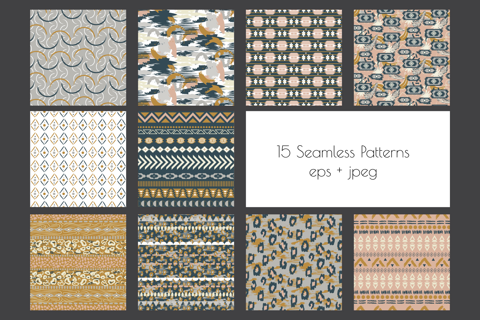 Ethnic Motifs- Seamless Patterns example image 2