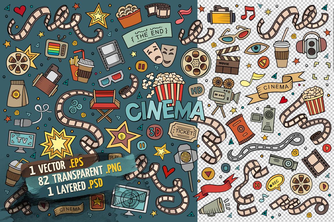 Cinema Objects & Elements Set example image 2
