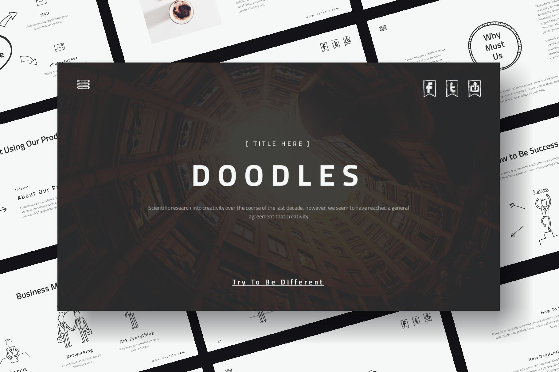 Doodles PowerPoint Template example image 1