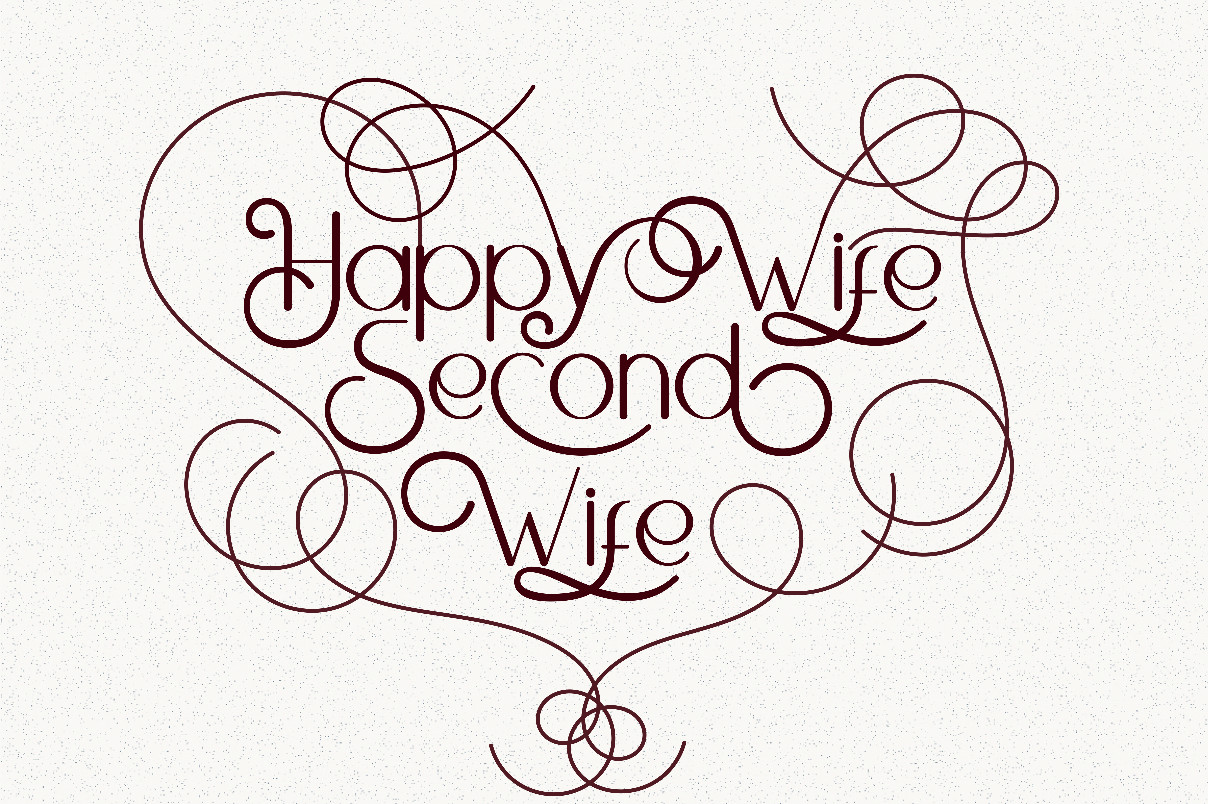 Happy Wife lettering quotes example image 1