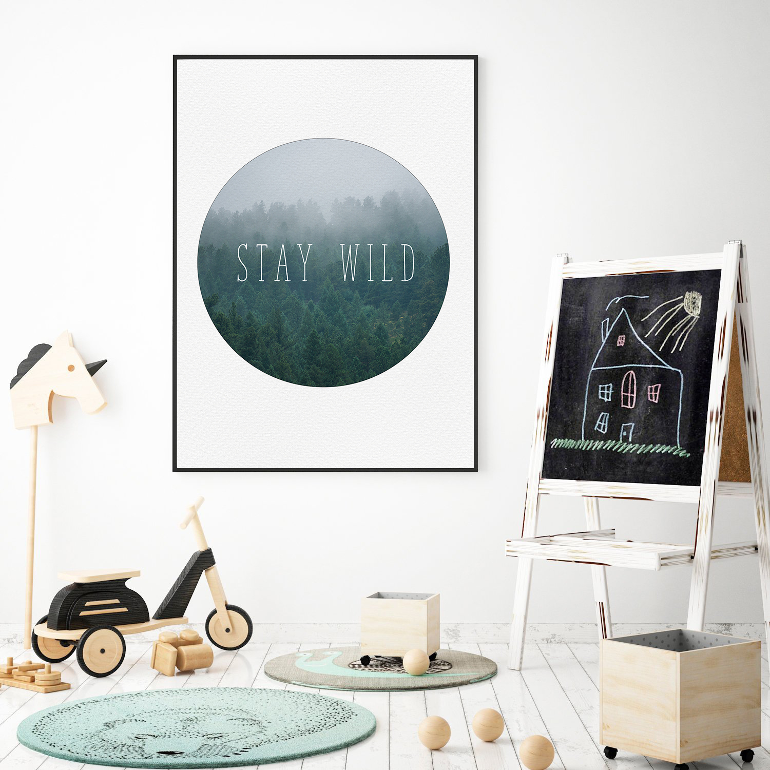Boy Room Wall Art, Stay Wild Print, Baby Boy Wall Art example image 3